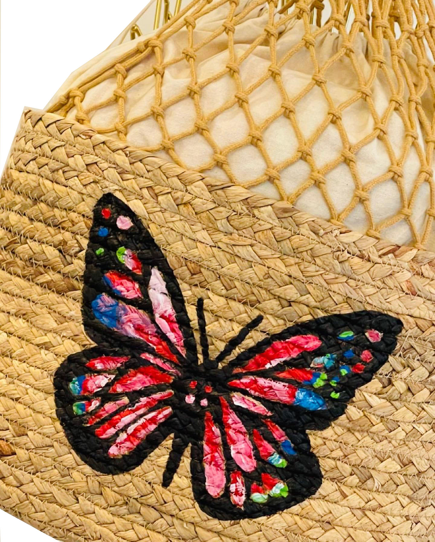 Marwooz Design Butterfly Hand Painted Tote Bag