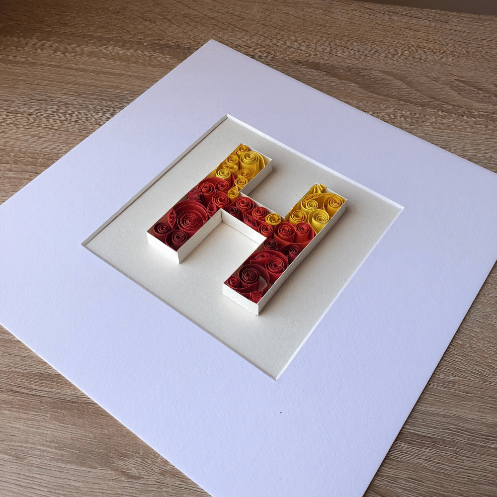 Paper Quilling Wall Art, Paper Quilling Letter Art