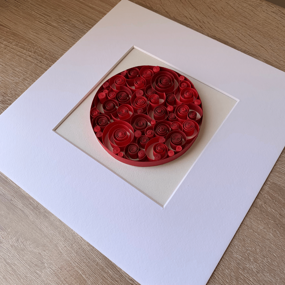 Paper Quilling Wall Art, Paper Curls - Paper Quilling