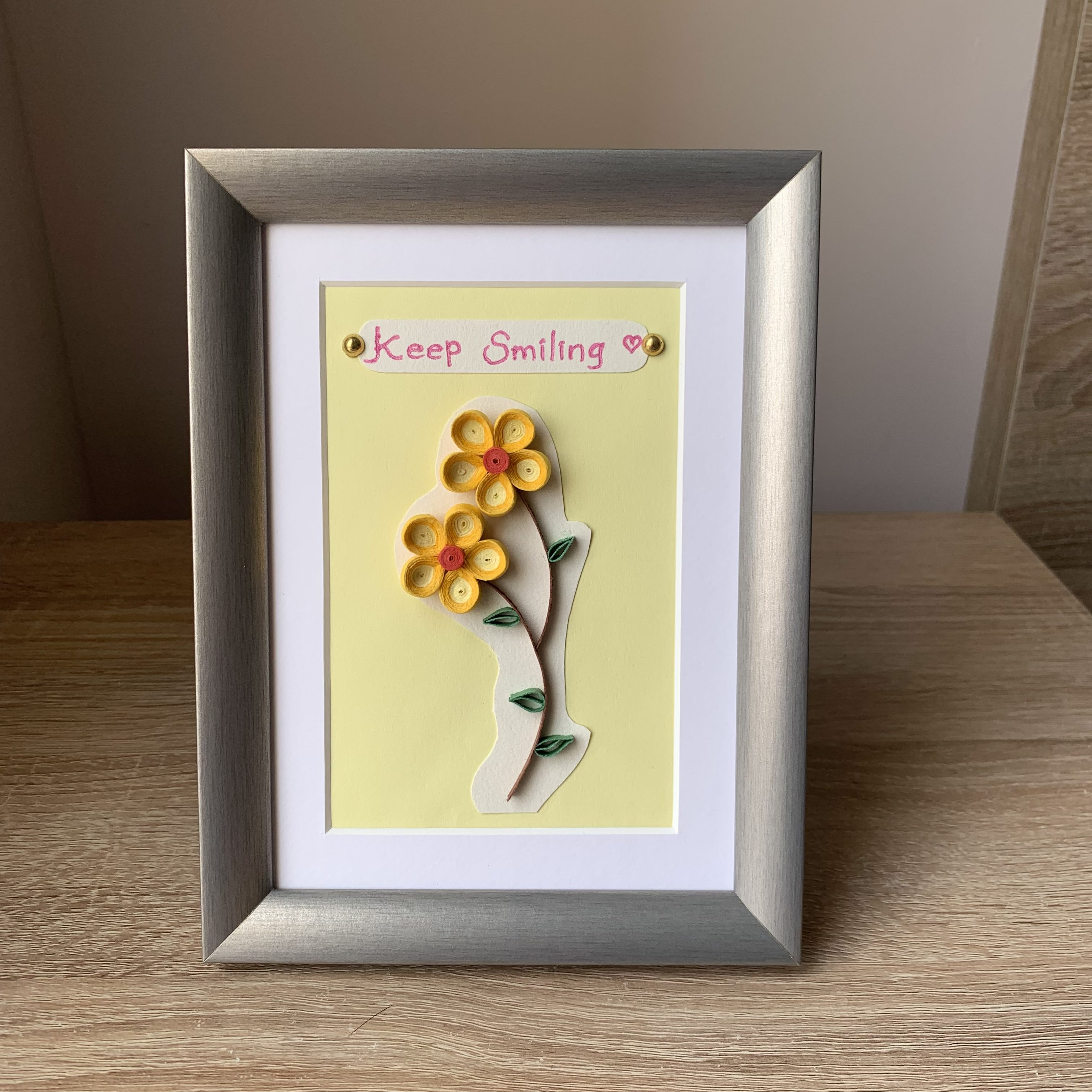 Paper Quilling Wall Art, Wish a friend - Greeting
