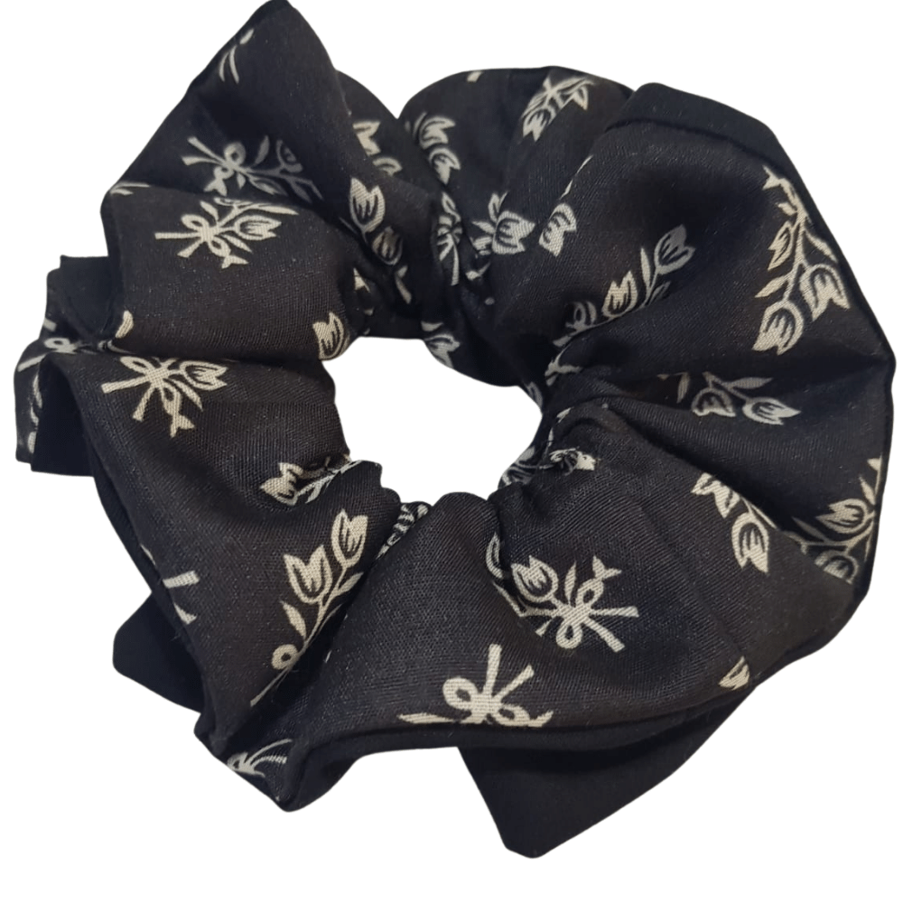 Mask and Scrunchie - Black and White