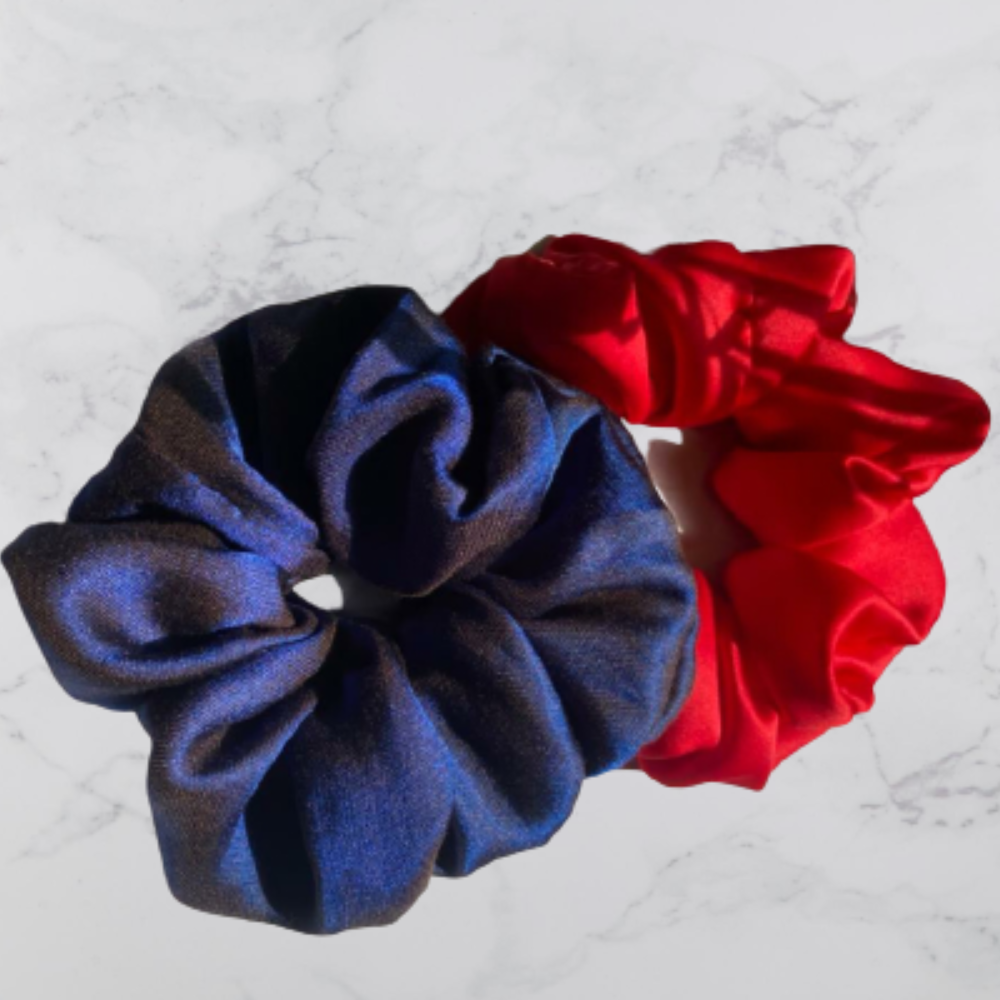 Polyester Scrunchies, Set of 2