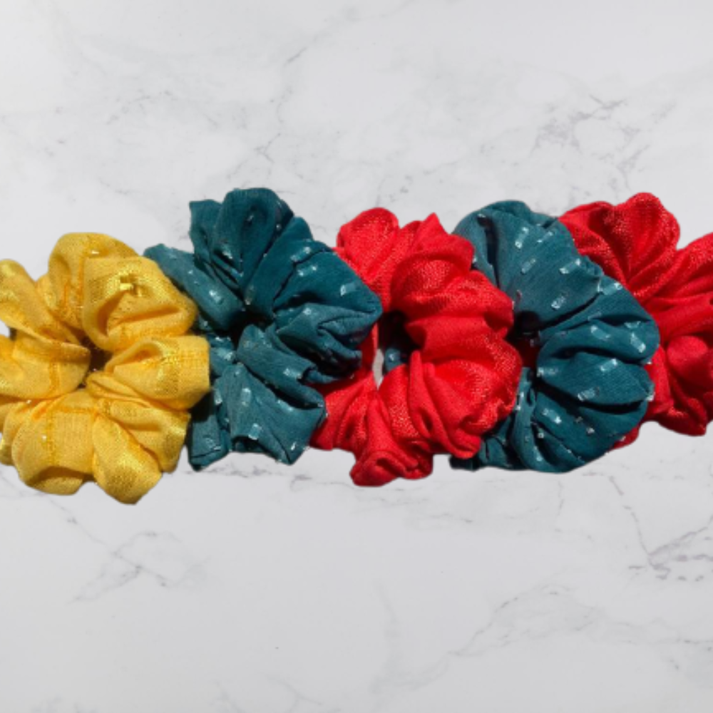 Polyester Scrunchies, Set of 5