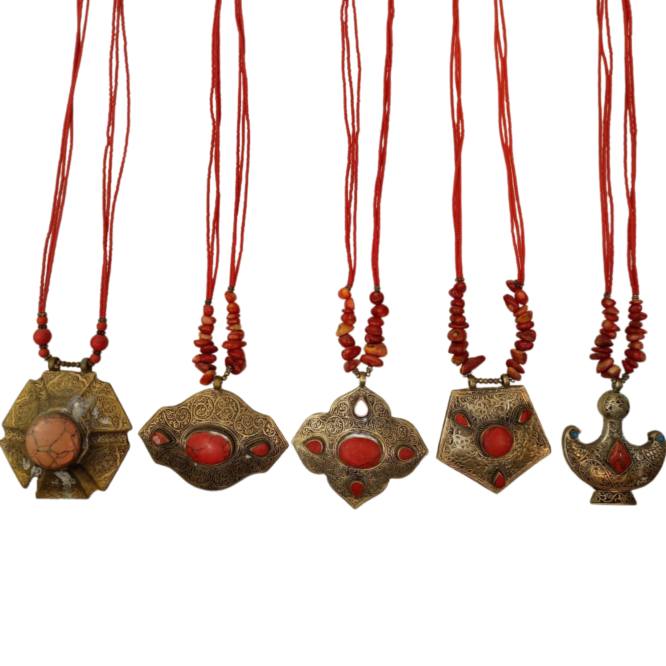 Handmade Stone Necklace, Pack of 4