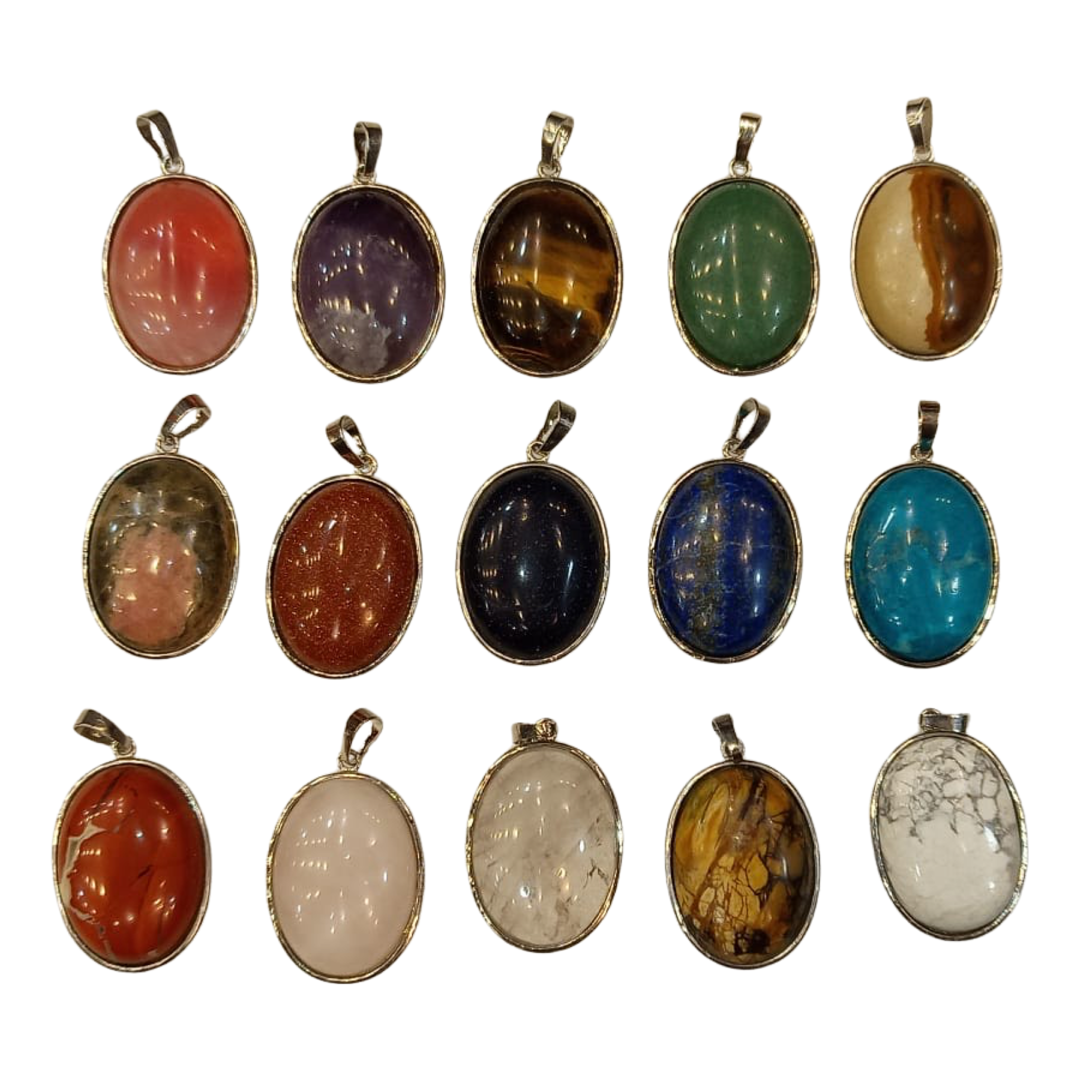 Handmade Stone Necklace, Pack of 3, Assorted