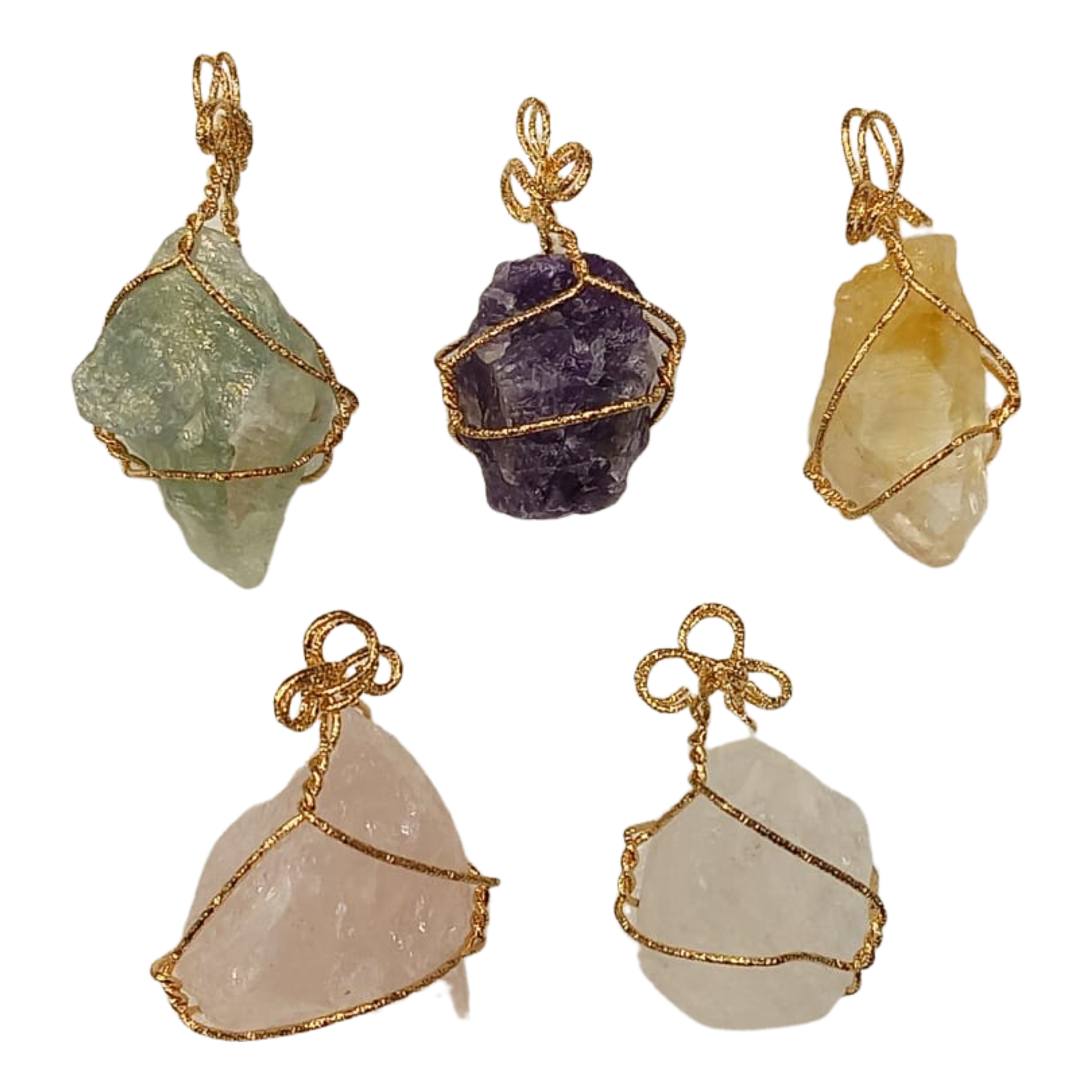 Handmade Stone Necklace, Pack Of 5