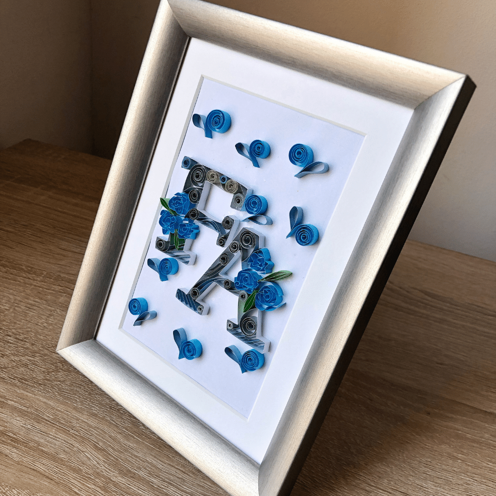 Paper Quilling Art for Couples, Monogram Art, Perfect as Anniversary Gift, Wedding Gift, Valentines Gift, Birthday Present and Bridal Shower