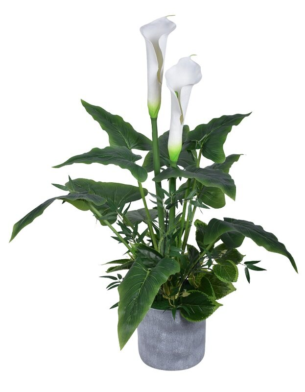 Artificial Lily Plant, White
